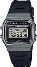 Casio Men's 'Vintage' Quartz Plastic and Resin Casual Watch, Color:Black (Model: F-91WM-1BCF)