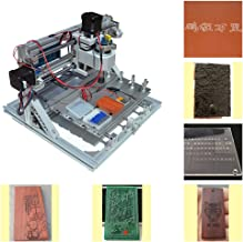 Upgrade Version CNC 2418 Router Kit GRBL Control 3 Axis Plastic Acrylic PCB PVC Wood Carving Milling Engraving Machine, XYZ Working Area 240x180x50mm (ER11 10PCS Router Bits CNC Router Machine)