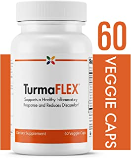 Turmeric Extract Joint Support - TurmaFLEX Joint Formula with Turmeric - Supports a Healthy Inflammatory Response and Reduced Discomfort - Stop Aging Now - 60 Veggie Caps