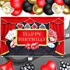 70 Pieces Casino Party Decoration Supplies Set, Include Casino Theme Birthday Backdrop, 4 Poker Suit Foil Balloons and 65 Latex Balloons for Las Vegas Casino Theme Party Casino Night Poker Events #3