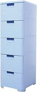Penderies Repliables Dresser 5 tiroirs Armoire de rangement en plastique avec des serrures tiroirs Commode for les vêtemen...