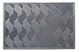 A1 HOME COLLECTIONS A1HCSM11 Doormat Heavy Duty Criss Cross Rubber Mat with Drainage Hole Large 24X36, 24' x 36'