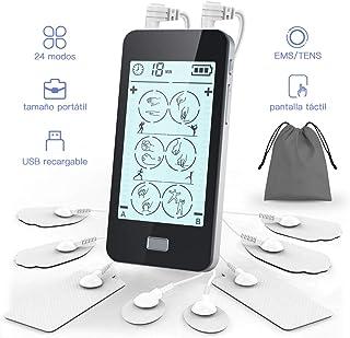 Electroestimulador Digital Masaje 24 Modos, 2 Canales, 8 Ele