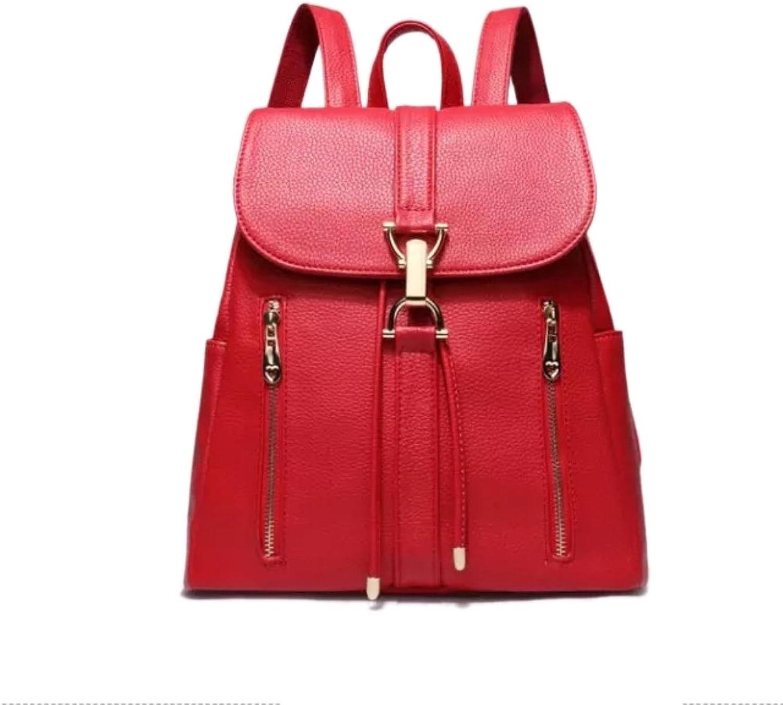 HIFISH HB125211 PU Leather Korean Style Women's Handbag,Soft Backpack