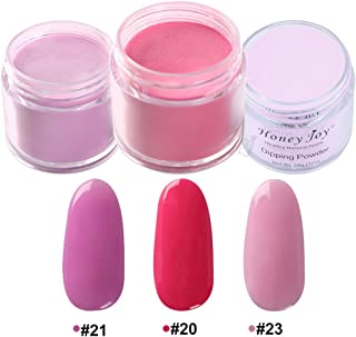 3pcs 28g/Box Red Rose Pink Colorful Dipping Powder Without Lamp Cure Nails Dip Powder Summer Gel Nail Color Powder Natural Dry (#20-21-23)