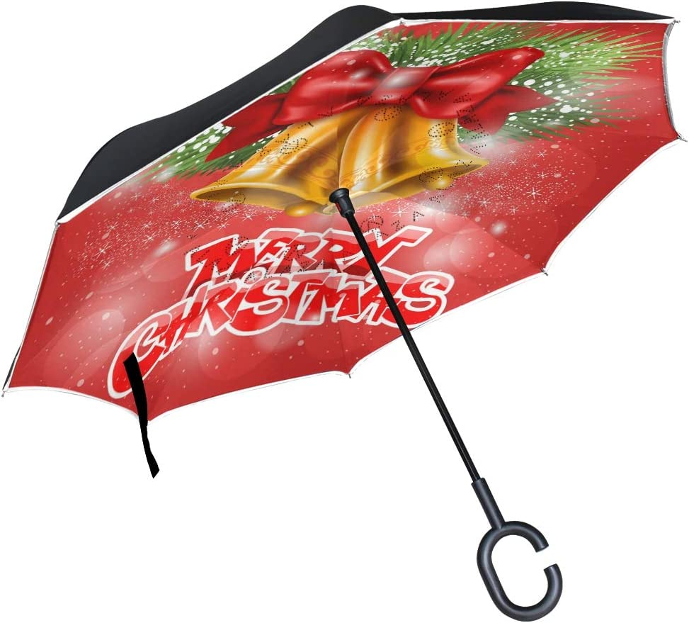 Pfrewn Merry Christmas Golden Jingle Win Umbrella Ranking excellence TOP5 Bells Inverted