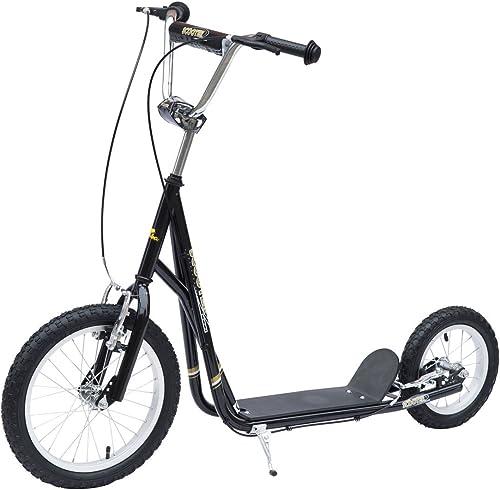 Homcom retroller Scooter 16 12 Zoll Cityroller Kinder Roller Bike