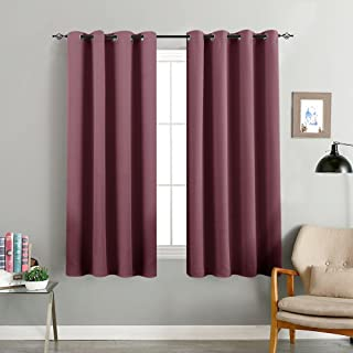 Room Darkening Curtain 63 inches Long for Living Room Moderate Blackout Window Curtain Panel for Bedroom Triple Weave Drape Grommet Top,52