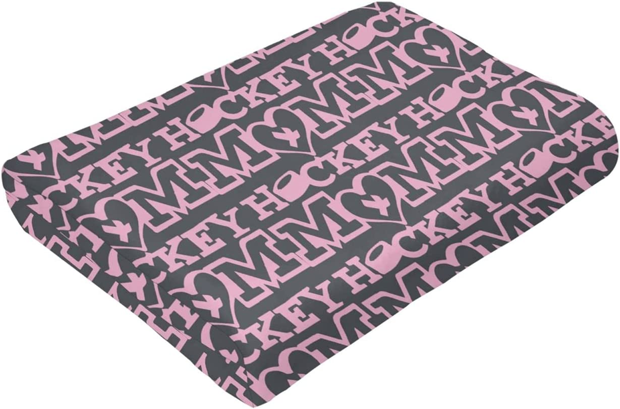 Hockey Mom Flannel Blanket Suitable Super-cheap Living Bedroom and for Complete Free Shipping Room