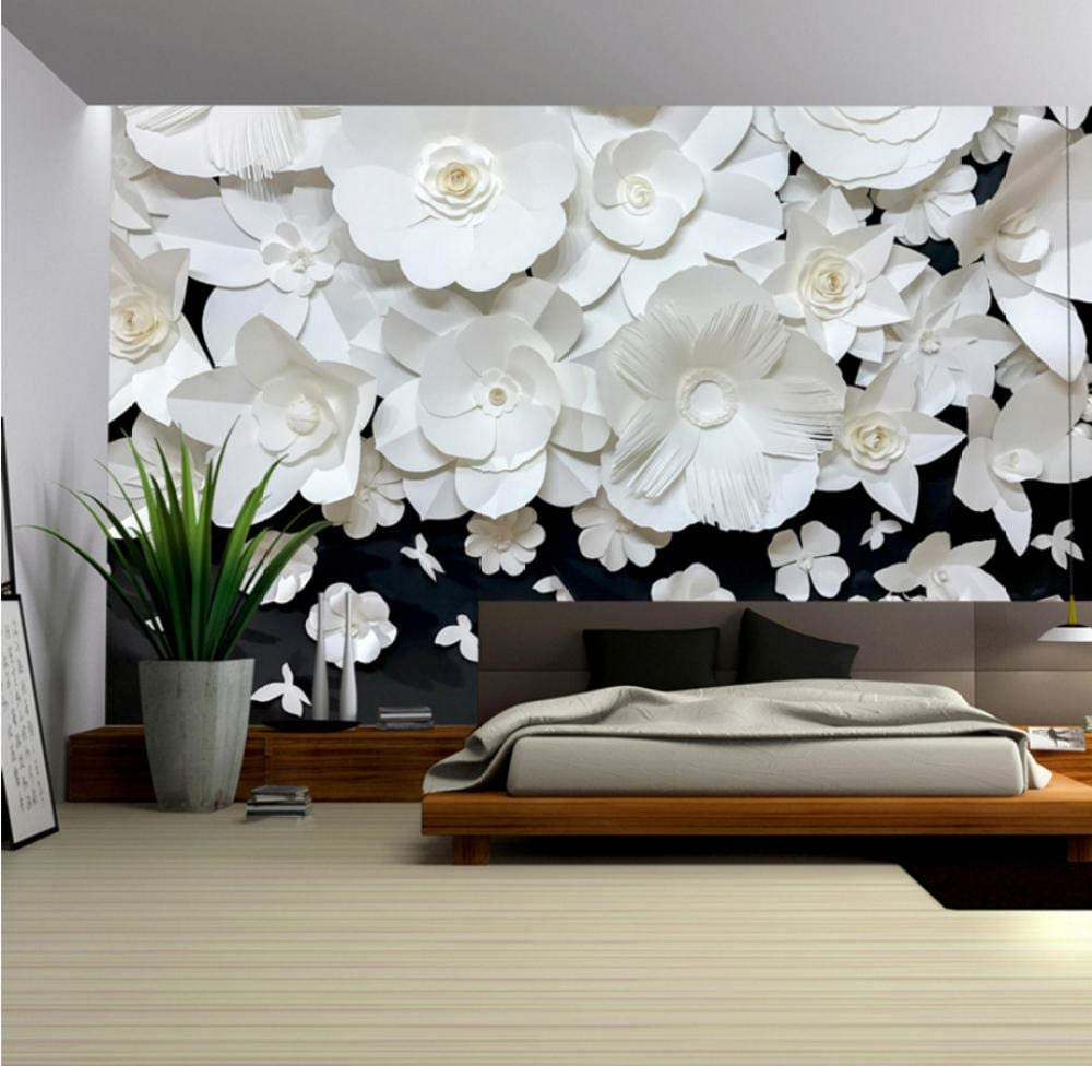 Black Finally popular brand White Floral Wall Superior Painting Photo Bedroom Living Room