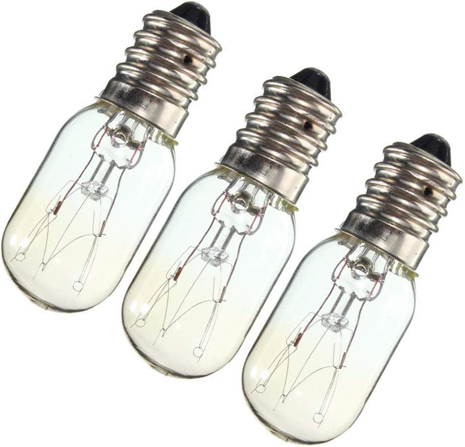 Mobestech Ses E14 15W R/éfrig/érateur Cong/élateur Lampe Micro-Ondes Ampoule Petite Ampoule /à Vis Edison 220-230V Pack de 3