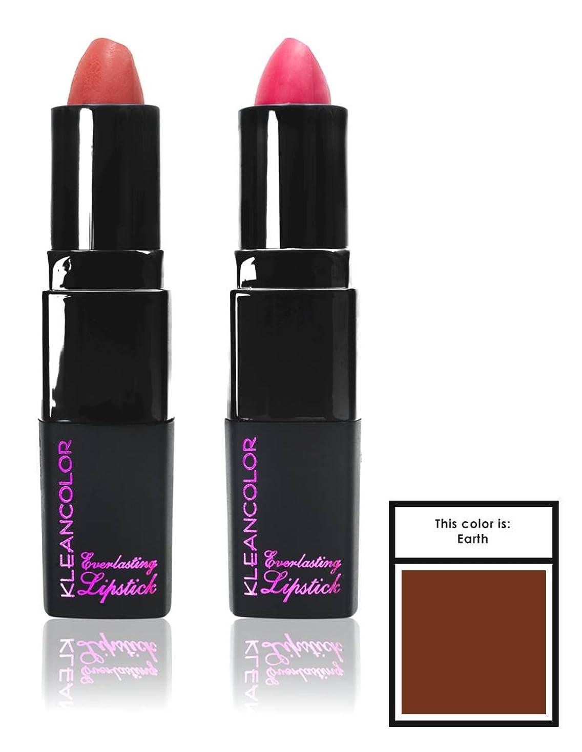 アンビエントハードリング容赦ないKLEANCOLOR Everlasting Lipstick - Earth (並行輸入品)