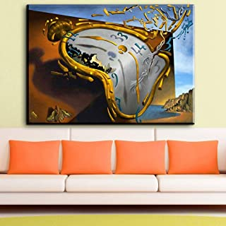 MZYZSL Modern Abstract Canvas Art Melting Watch 1954 by Salvador Dali Canvas,Pictures Art Painting for livingroom Bedroom NO Frame 70X100CM