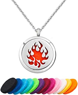 EV.YI Jewels Stainless Steel Aromatherapy Essential Oil Diffuser Necklace