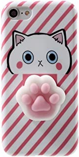 Case For LG Stylo 3, QKKE 3D Poke Squishy Cat Seal Panda Polar Bear Squeeze Stretch Compress Stress Reduce Relax Soft Silicone Relief Case for LG Stylo 3 / Stylo 3 Plus (Paw Pink)