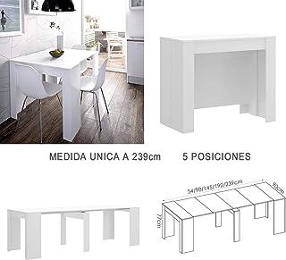 HABITMOBEL Mesa de Comedor Consola Extensible a 239 cm Medidas Cerrada 90 x 78 x 54 cm