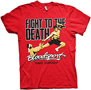 Bloodsport Officially Licensed Fight to The Death Mens T-Shirt (Red)
