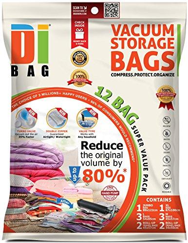 DIBAG 12 Bolsas almacenaje vacío ropa ahorrar espacio