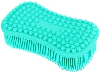 Tophome - Cepillo de limpieza multiusos para cocina, esponja de silicona, para limpieza de ollas, para lavar frutas y verduras, soporte para ollas, azul, Azul