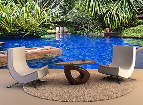 Muurdruk Poster Tropische Zwembad muur Art Decor Fotobehang Poster Hoge Kwaliteit Print