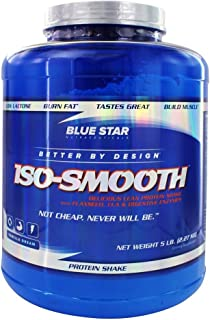 Blue Star Nutraceuticals - Iso-Smooth Pharmaceutical Grade Protein Shake - 5 lbs (Vanilla Dream)