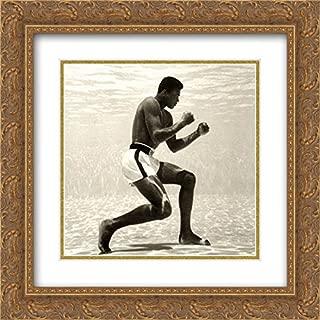 Muhammad Ali for Life Magazine (Underwater) 2X Matted 20x20 Gold Ornate Framed Art Print by Flip Schulke