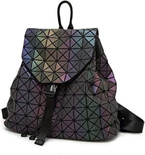 HotOne Geometric Luminous Purses and Handbags Shard Lattice Eco-Friendly  Artificial Leather Rainbow Holographic Purse de9772a8a704f