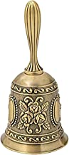Hand Bell- Vintage Metal Loud Call Bell Alarm Hand Held Service Call Bell Wedding Bells Game Bell Home Decoration for Dinn...