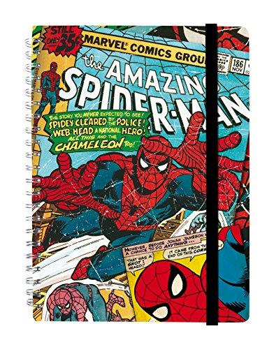 Grupo Erik Editores Premium Marvel - Cuaderno de tapa dura, A4 - Libreta A4 Tapa Dura Marvel