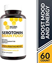 Natural Stacks: Serotonin Brain Food - Brain Supplement - 30 Day Supply - Promotes Healthy Serotonin Production - Formulated for Stress Relief - Made to Boost Mood and Energy