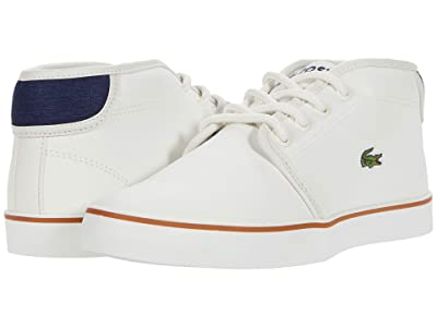 Lacoste Kids Ampthill 0120 1 CUJ (Little Kid/Big Kid) (Off-White/Navy) Kid