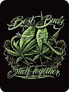 Regal Comfort Best Buds Stick Together Pot Leaf Throw Blanket 45