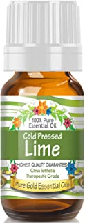 Pure Gold Cold Pressed Lime Essential Oil, 100% Natural & Undiluted, 10ml