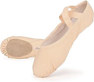 Bezioner Canvas Ballet Shoes Girls Ballet Slipper for Toddler Kids Children Girls Women