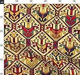 Exotisch, Türkisch, Muster, Rot, Blau, Gelb, Kelim Stoffe