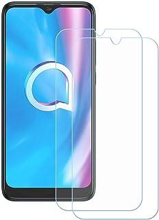 TTJ 2 stycken skottsäkert glas skyddsfolie för Alcatel 1SE 2020, 9H härdat glas pansarglasfilm anti-rep/anti-fingeravtryck...