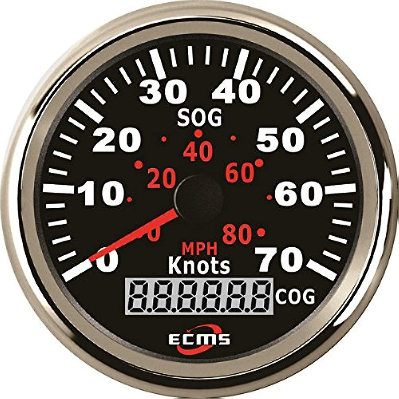 Marine Boat Car Truck GPS Speedometer Gauge 932V 70Knots 85mm 316L Chrome Bezel Black Dial 90000049