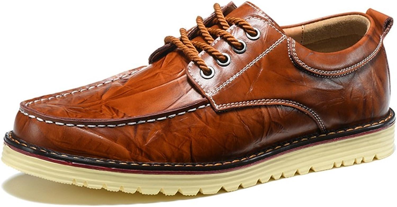 Men's shoes Feifei Spring and Autumn Retro Leisure Leather shoes 3 colors (color   02, Size   EU42 UK8.5 CN43)