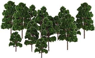 Fltaheroo Lot 20 x Tree Model Landscape Decor Train N HO Electronic Jouef Dark Green