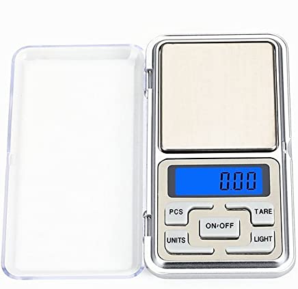 Homepartners Portable LCD Display Digital Pocket Scale Jewelry Weight Balance Kitchen Cooking Grain Scale Gram 500g x 0.1g Gray