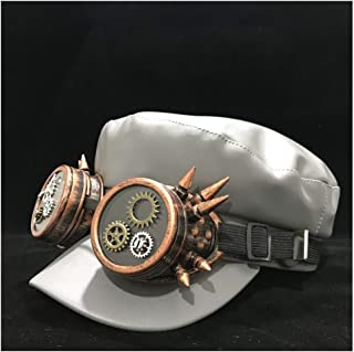 Fashion Hats Real Leather Beret Hat for Men Women with Gear Classes Ivy Cap Driving Hat Outdoor Travel Hat Duckbill Hat Retro Wild Hat Size 56-58CM Elegant Hats (Color : Gray, Size : 56-58)