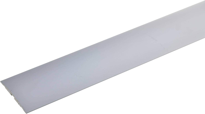 resistente a los ara/ñazos list/ón de transici/ón para suelos de moqueta laminados y parquet acerto 33598 Perfil de transici/ón de aluminio de 2 piezas 100cm 24,5x1,25mm bronce claro antideslizante