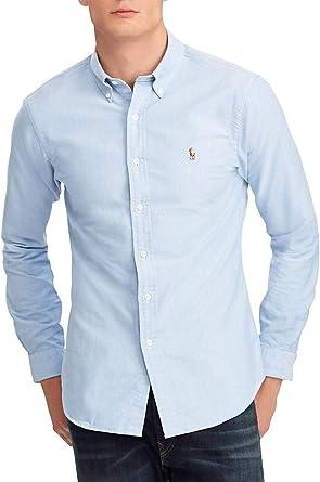 Polo Ralph Lauren Camisa Oxford Azul para Hombre L Azul ...