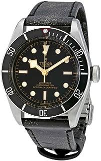 Tudor Heritage Black Bay Leather Automatic Mens Watch 79230N-BKLS