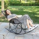 Office Life Tumbona Tumbona Silla Zero Gravity de gran tamaño, sillas de patio reclinables Resistente a la oxidación con reposacabezas acolchados ajustables para exteriores (Color: Negro Marrón)