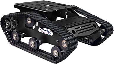 XiaoR Geek Smart Robot Car Chassis Kit Aluminum Alloy Big Tank Chassis with 2WD Motors for Arduino/Raspberry Pi DIY Remote...
