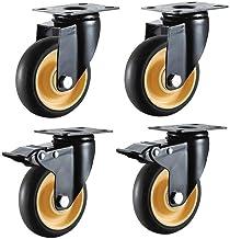 Casters 4 stks wielen industrieel transport heavy duty 3 inch 75 mm 4 inch 100 mm 70 kg stille universele rem (Color : E, ...