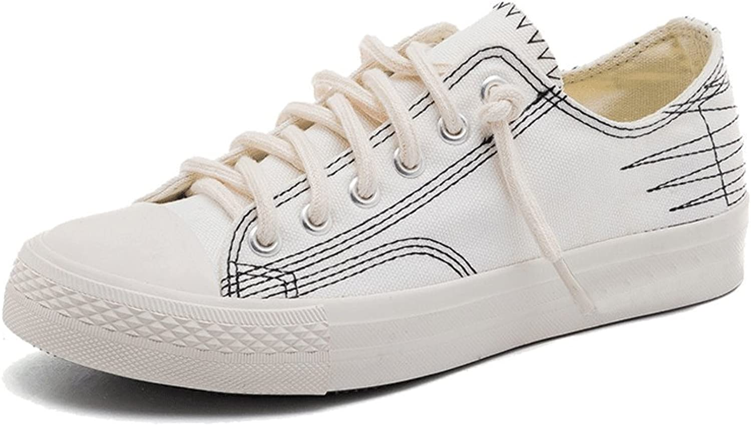 LIUXUEPING White shoes Female Wild Casual Spring and Summer The New Korean Version Student Canvas shoes (color   White, Size   40)