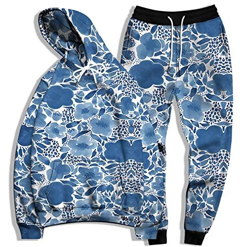 SSBZYES Traje De Sudadera para Hombre Sudadera De Talla Grande para Hombre Pantalones De Chándal De Talla Grande Sudadera con Capucha Suéter Suelto Traje De Sudadera