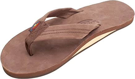 Rainbow Sandals Single Layer Leather w/Arch Support